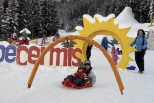 Val di Fiemme inverno, asili sulla neve