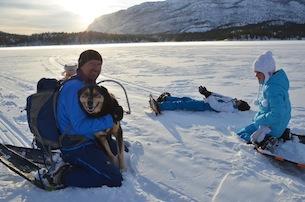 Alta-Norvegia-Finnmark-escursione-con-le-ciaspole-sul-lago-ghiacciat8