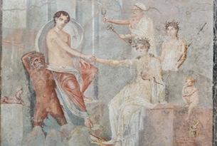 Cleopatra-Chiostro-del-Bramante-affresco-Io-a-Canopo-da-Pompei-particolare