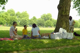 London picnic in Hyde Park