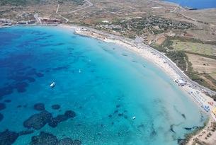 Malta-visitmalta-Mellieha Ghadira Bay Aerial View (2)