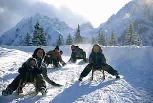 Osttirol-vacanze-neve-Rodelpartie Dolomitenhütte-TVB Lienzer-Dolomiten