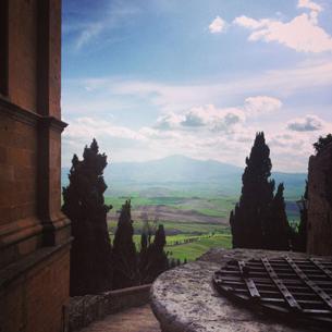 Val Orcia dalla cattedrale di Pienza