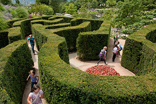 Giardini Merano per bambini, labirinto