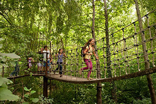 Giardini Merano per bambini, ponte delle avventure