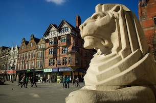 The Left Lion, Nottingham City Council