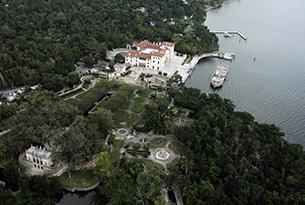 miami-vizcaya aerial - photo by lourdes milian productions