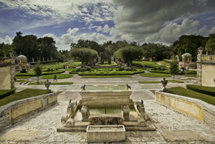 miami-vizcaya-garden overview from north