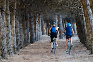 Pineta Pineto bicicletta - Abruzzo itinerari con bambini