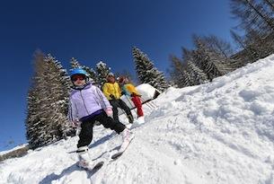 Val di Fiemme inverno, scuola sci bambini